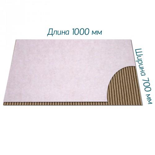 Двухслойный микрогофрокартон Д-11 бел/бур 1000*700 мм