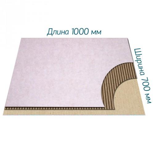 Микрогофрокартон Т-23 бел/бур 1000*700 мм