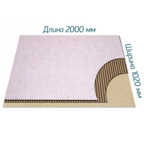 Гофрокартон Т-23 белый 2000*1020 мм