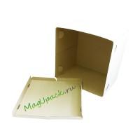 Упаковка под торты 330*230*180 мм белая
